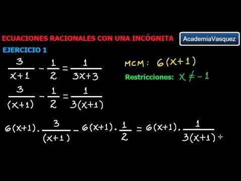Ecuaciones Racionales con