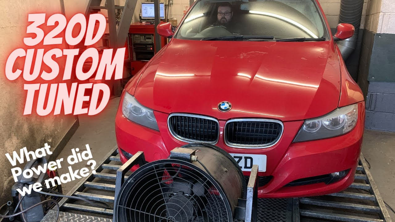 BMW 320d Totally Standard Custom Mapped with Great results at Dynodaze