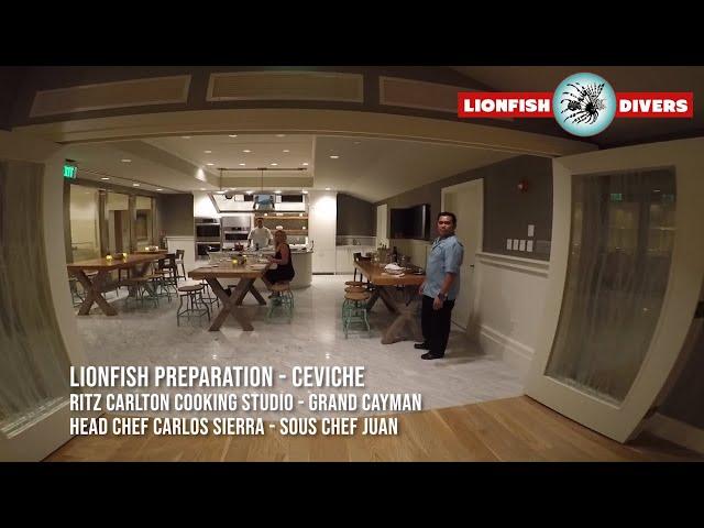 Lionfish Ceviche -Ritz Carlton Chef Carlos Sierra