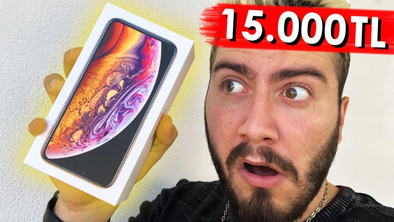 15 000 Tl Yeni Iphone Xs Aldim Cekilis Youtube