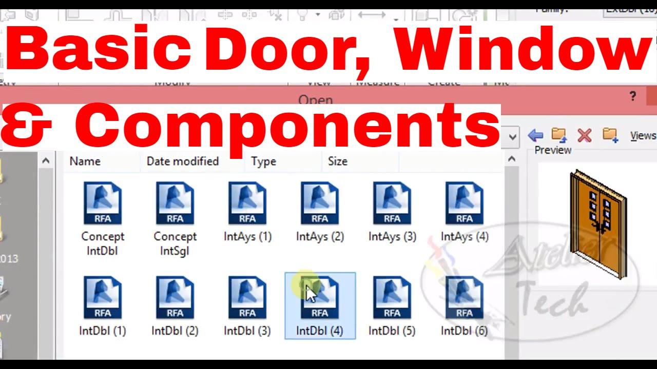 Door, Window & component Families | Revit Architecture 2017 | Basics Easy  Tutor-TAMIL | L5