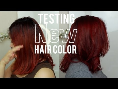Touching Up Red Hair Using Ion Permanent Haircolor 7ir