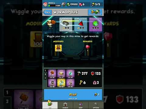 Pocket Mine 3 gameplay:Wormopolis (Part 1/7-ORGANIC LAYER) completed