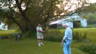 Shooting Shoes and Chairs With a Blackpowder Shotgun