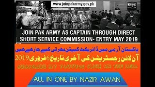Short Service Commission In Pakistan Army 2018