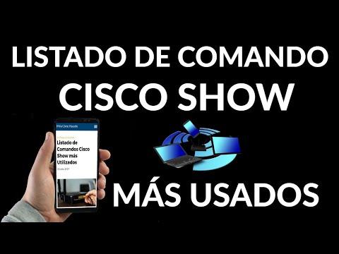 Listado de Comandos Cisco Show más Utilizados