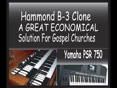 Yamaha psr 750 vintage hammond organ sounds and set up for Classic house organ sound