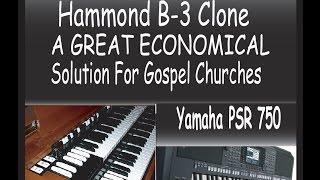 Yamaha PSR-750 Vintage Hammond Organ Sounds and Set Up