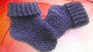 вязание крючком. Носки крючком. вязаные носки крючком. как связать носки крючком
