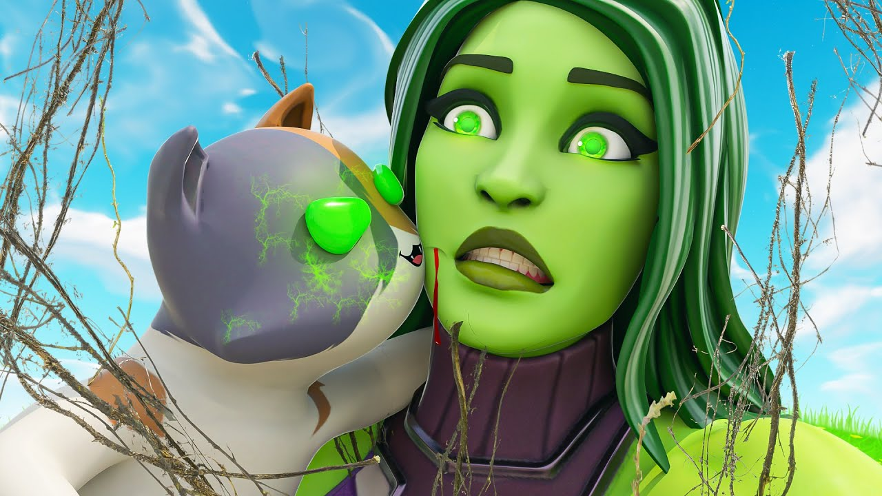 KIT'S TOXIC KISS INFECTS HIS MOM.... ( Fortnite Short )