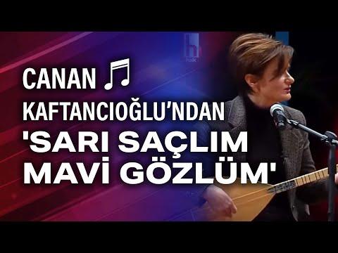 Canan Kaftancıoğlu bağlama çalıp 'Sarı saçlım mavi gözlüm' türküsünü söyledi. HalkTV Özel görüntüler indir