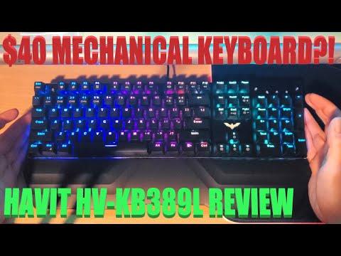 Amazing $40 RGB Mechanical Keyboard/W Mouse?!  Havit HV-KB389L Review - 2020