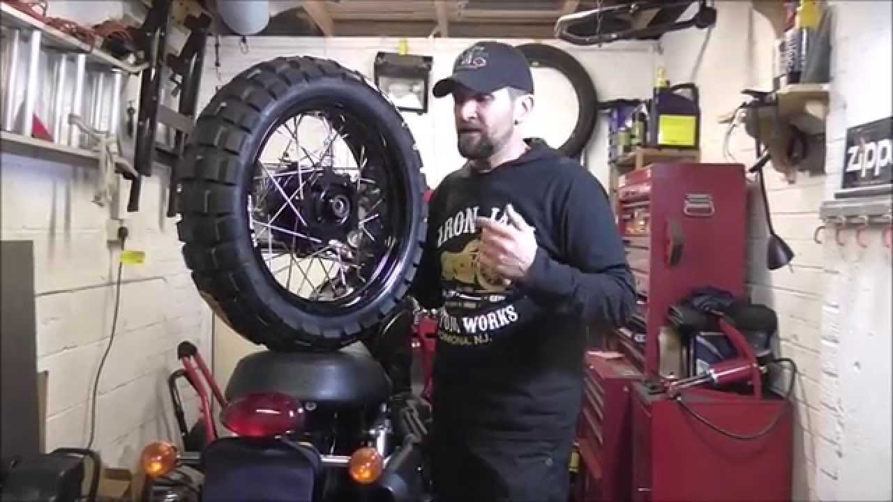 Delboys Garage Triumph Scrambler Fat Wheels Youtube