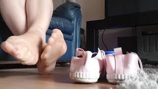 Adidas pumps for sale, nylon feet.