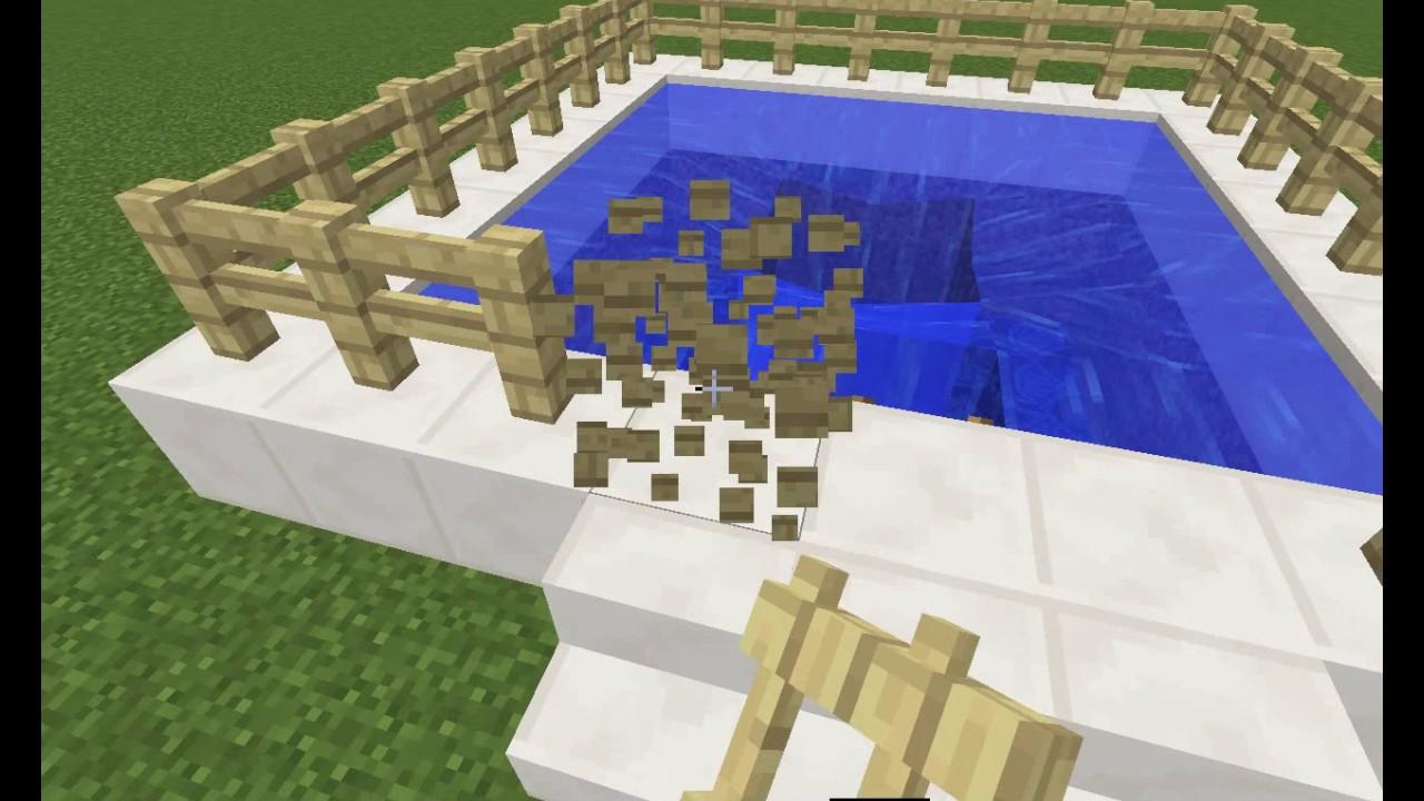 картинки как построить бассейн в майнкрафте напиток