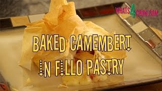 Baked Camembert Or Brie Cheese In Fillo / Filo / Phyllo Pastry. How To Make Baked Camembert Or Brie.