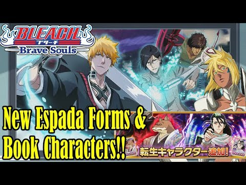 Bleach Brave Souls NEW BOOK CHARACTERS & ESPADA FORMS!