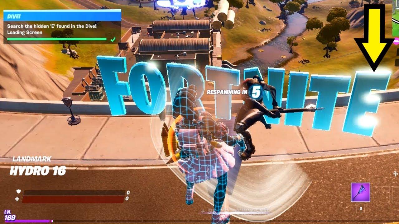 Fortnite E Letter LOCATION | Where is the E in Fortnite ...