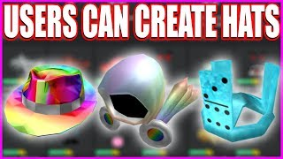 ROBLOX USERS CAN NOW CREATE HATS!! [ Roblox UGC ]