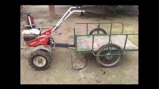 Remolque para motocultor de 3,5 cv