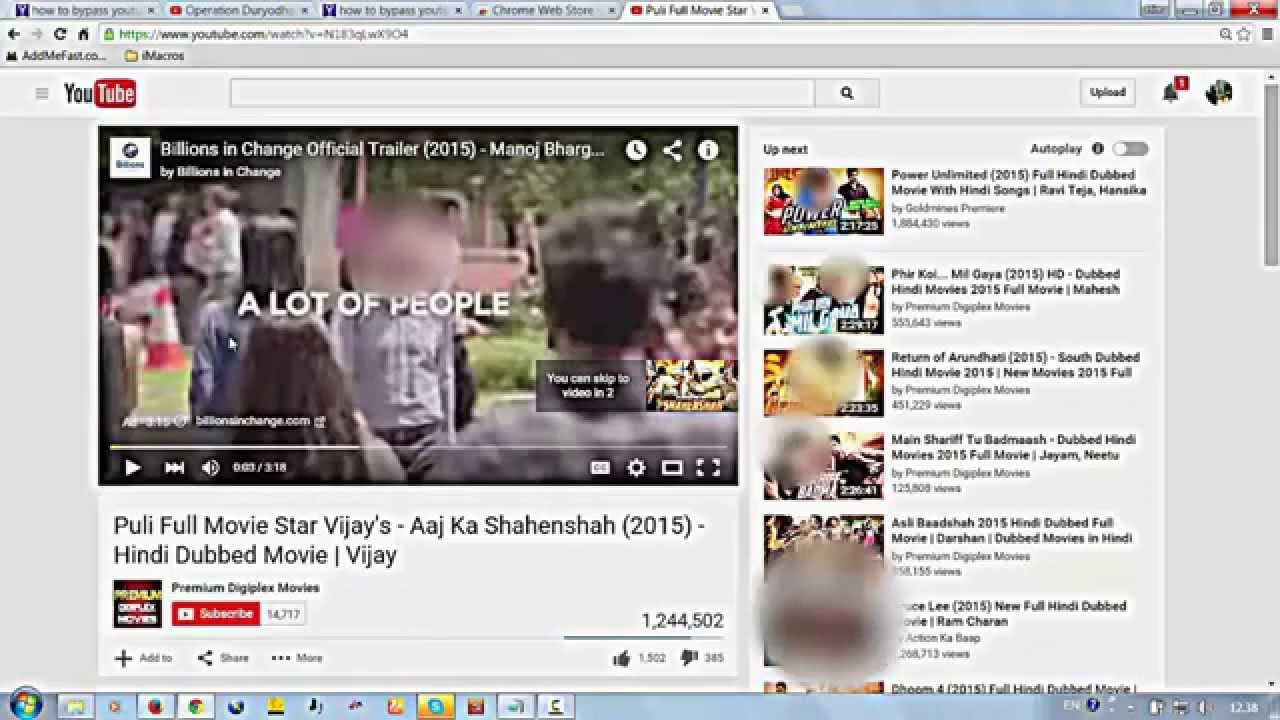 How To Disable Youtube Video Ads With Adblock Plus Extention On - Youtube ad template