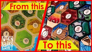 DIY Settlers of Catan Board made with Lasers and Resin