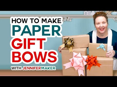 Make Gift Bows from Paper - Cut with a Cricut or by Hand!i