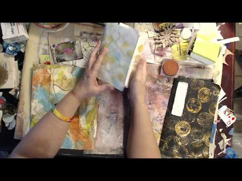 Craft & Chat... working in a Junk Mail  Journal