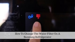 How To Change The Water Filter…
