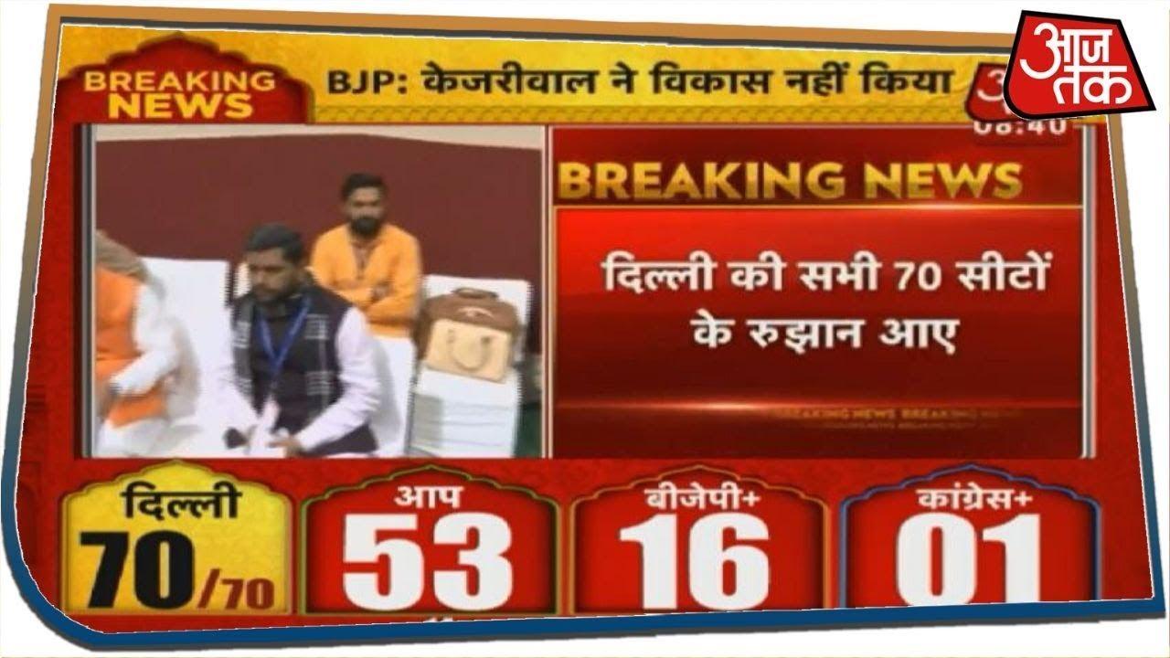 Delhi Election Result 2020: सभी 70 सीटों के रुझान आए सामने, AAP को बहुमत,बीजेपी को भी फायदा