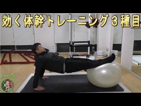 【体幹】バランスボール使った効く体幹トレーニングを3種目紹介します!