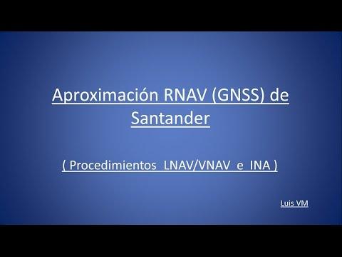 737 Aproximación RNAV GNSS de Santander.  Procedimiento IAN