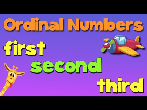 Ordinal Numbers Song