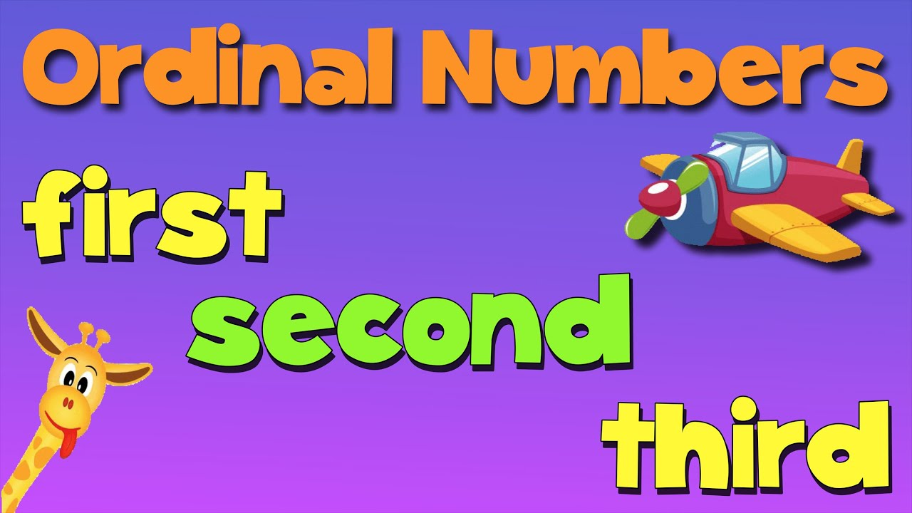 Ordinal Numbers Song Youtube