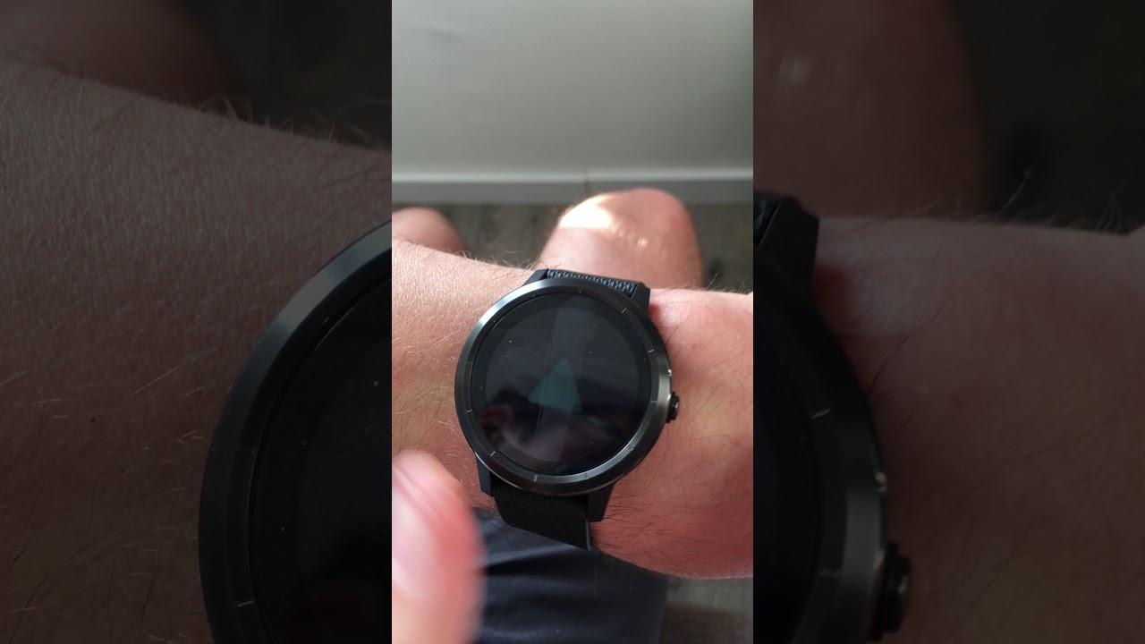 Garmin Vivoactive 3 freeze screen and button