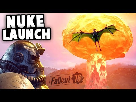 SCORCHBEAST Battle and NUKE LAUNCH Disaster! Exclusive Footage! (Fallout 76 Gameplay)