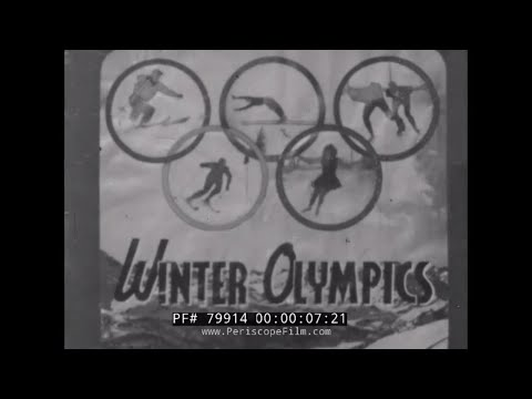 WINTER OLYMPICS 1948 ST. MORITZ SWITZERLAND  79914