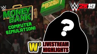 WWE Money in the Bank 2019 Simulation on WWE 2K19! | Wregret Livestream Highlights (May 14, 2019)