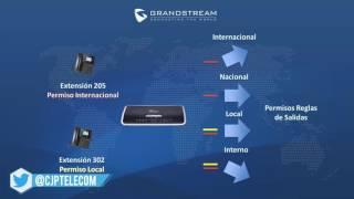 RE YOUTUBE Grandstream Networks: Configuración de Reglas de Salida UCM6100/6510