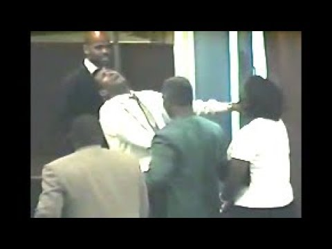 The Late Prophet Nathan Simmons Laying Hands and Praising God Before  Walking Out The Church!