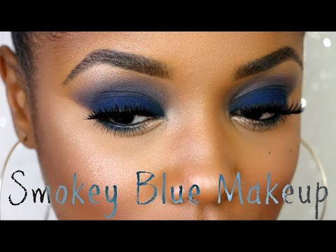 Navy blue eyeshadow for brown eyes