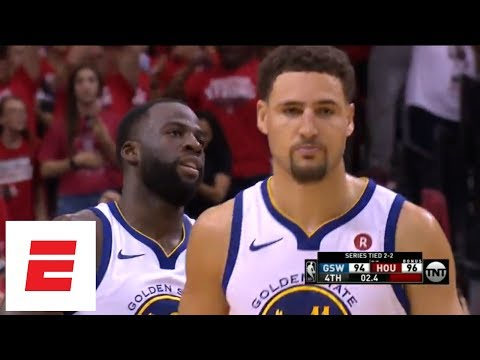 Quinn Cook, Steph Curry, Draymond Green miss chances to possibly beat Rockets late in Game 5 | ESPN