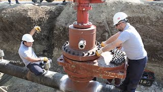 Great Teamwork Skills Of The Workers When Hot Tapping Giant Pipeline | Awesome Welding Skill