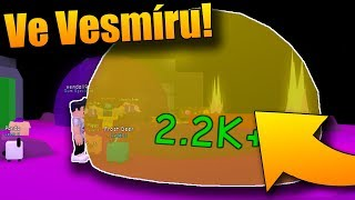 I GOT INTO SPACE! 😱😂 | ROBLOX: Bubblegum Simulator #3
