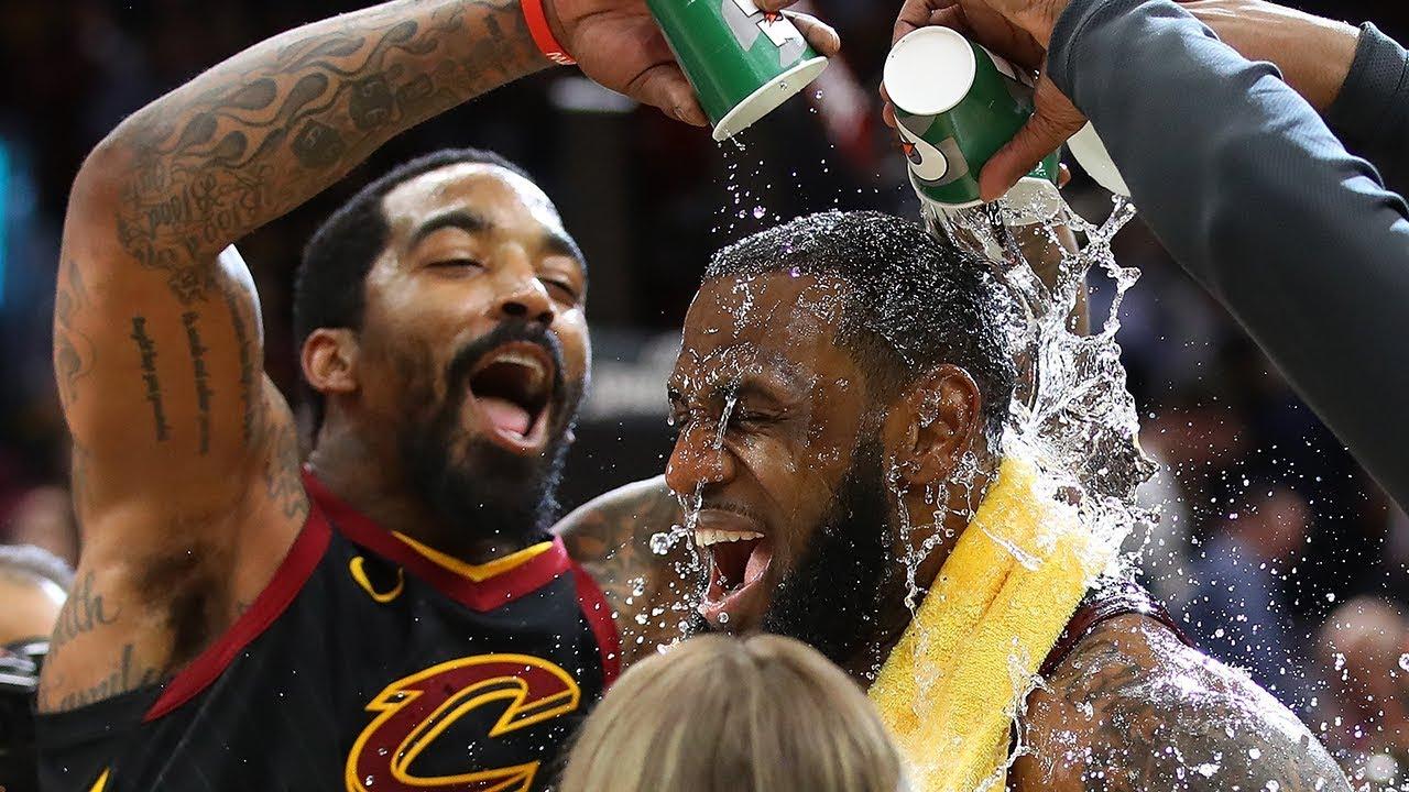 70d40879285 LeBron James Receives a Victory Shower!