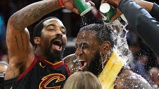 LeBron James Receives a Victory Shower! | Cavaliers vs Pacers - Game 5 | 2018 NBA Playoffs