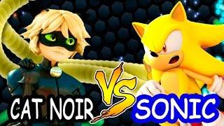 Slither.io Cat Noir vs Super Sonic batalha de cobrinha.