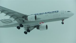 turkish airlines a330 200 landing at zurich airport