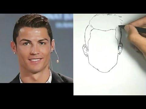 Keren!! Menggambar Ronaldo Dengan Cepat Dan Mudah , Langsung Spidol / How To Draw Ronaldo