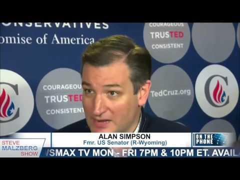 Malzberg | Fmr Sen Alan Simpson: Cruz has spooky obcession to be president